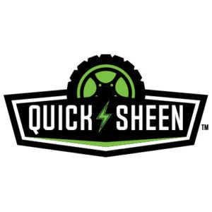 Green and Black Quick Sheen Logo
