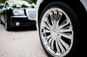 shiny chrome wheels