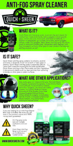 Quick Sheen Anti-Fog Infographic
