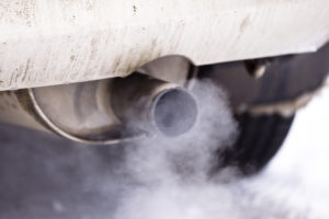 Smoke coming coming from car's exhaust pipe